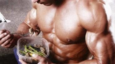 bodybuilding eating meal
