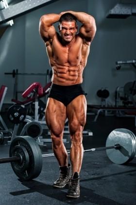 bodybuilder with low bodyfat