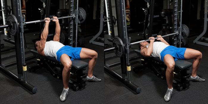 close grip bench pressing