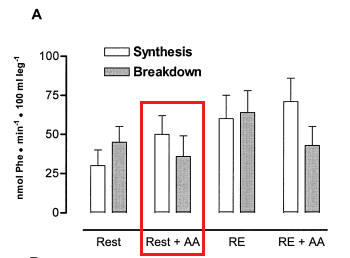 rest and amino acids