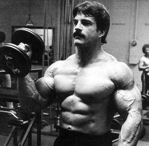 Mike Mentzer dumbbell curl