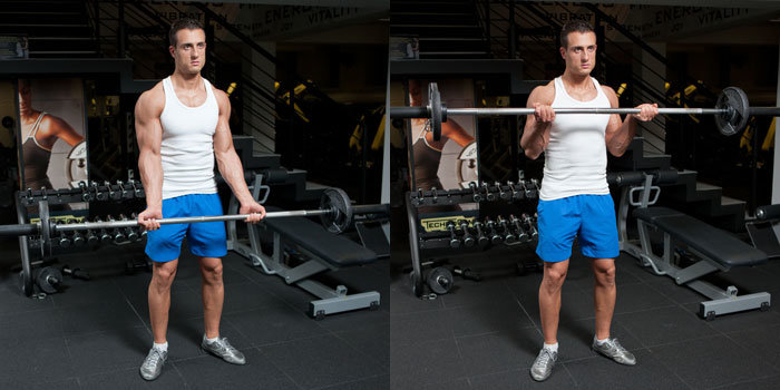 Standing-Barbell-Curl example