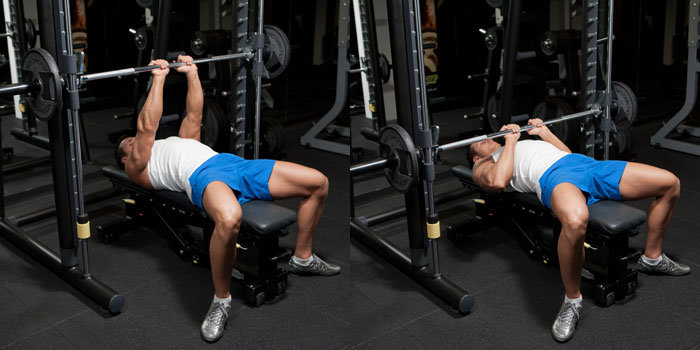 close grip bench pressing